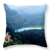 Castle Hohenschwangau 2 Throw Pillow