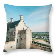 Castle In Chinon Throw Pillow