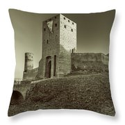 Castle In Czersk Throw Pillow by