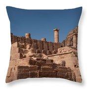Castle In Petra Throw Pillow
