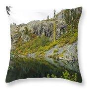 Castle Lake  Throw Pillow