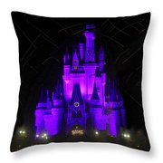 Castle Of Cinderella Throw Pillow