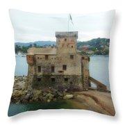 Castle Of Rapallo Throw Pillow