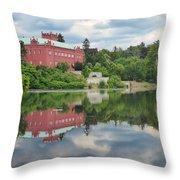Castle On The Lake Throw Pillow