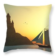 Castle On The Sea Throw Pillow