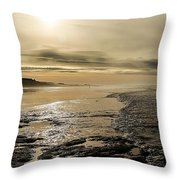 Castle On The Shore Throw Pillow