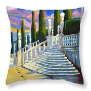 Castle Patio 1 Throw Pillow by Milagros Palmieri