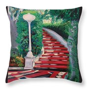 Castle Patio 2 Throw Pillow