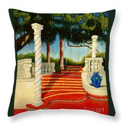 Castle Patio 3 Throw Pillow