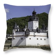 Castle Pfalz Throw Pillow