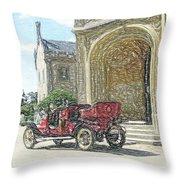 Castle Renault Throw Pillow