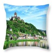 Castle Reichsburg Throw Pillow