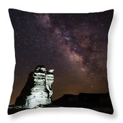 Castle Rock In White Throw Pillow