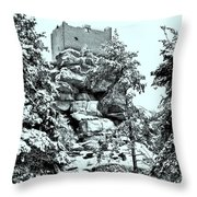 Castle Ruin Flossenbuerg Throw Pillow