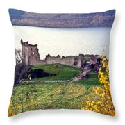 Castle Ruins Scotland Throw Pillow