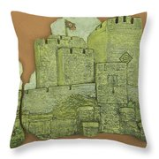 Castle Rushen Throw Pillow