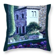 Castle Sestri Levante Throw Pillow
