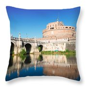 Castle St Angelo Throw Pillow