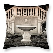 Castle Stairs Throw Pillow