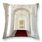 Castle Stairwell Throw Pillow