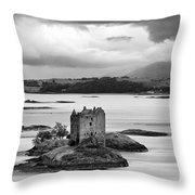 Castle Stalker - D002192bw Throw Pillow