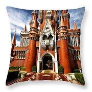Castle Taman Mini Indonesia Indah  Throw Pillow