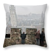 Castle View Throw Pillow