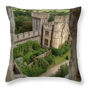 Castle Within A Frame Throw Pillow