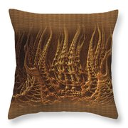 Castles In Decay Throw Pillow
