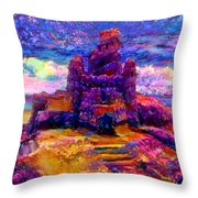 Castles In The Sand Cs-1a Throw Pillow