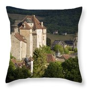Castles Of Curemonte Throw Pillow