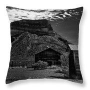 Castolon Ghost Town Throw Pillow