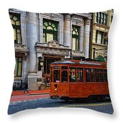 Castro Street Trolley Throw Pillow