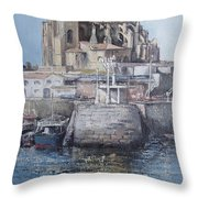 Castro Urdiales Throw Pillow by Tomas Castano