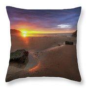 Caswell Bay Sunrise Throw Pillow