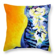 Cat - Here Kitty Kitty Throw Pillow by Alicia VanNoy Call