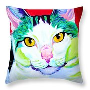 Cat - Zooey Throw Pillow by Alicia VanNoy Call