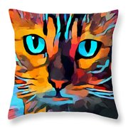 Cat 10 Throw Pillow