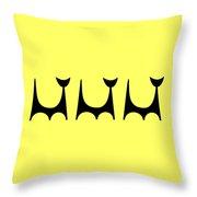 Cat 2 Trio  Throw Pillow