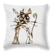 Cat 3672 Throw Pillow