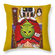 Cat - Alien Abduction Throw Pillow
