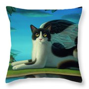 Cat And Mouse 2 Throw Pillow