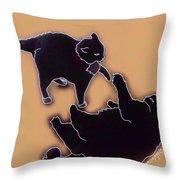 Cat Attack 4  Throw Pillow