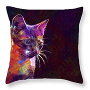 Cat Background Image Cute Red  Throw Pillow