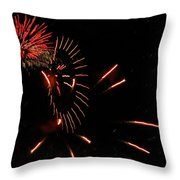 Cat Burst Throw Pillow