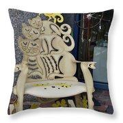 Cat Chair Throw Pillow