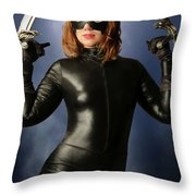 Cat Claws And Mask Throw Pillow