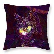 Cat Contemporary Design Brown  Throw Pillow