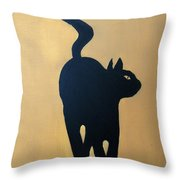 Cat Dance..... Optical Illusion Throw Pillow