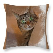 Cat Desire. Throw Pillow